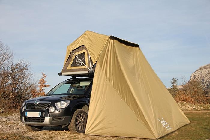 Installation complète d'une tente de toit V8 equipment