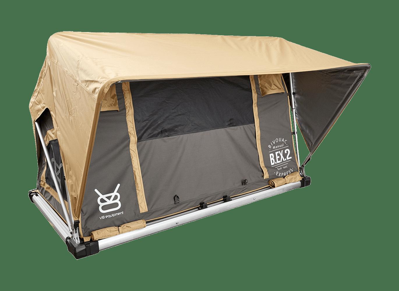 Vue de profil de la tente de toit Bex 2
