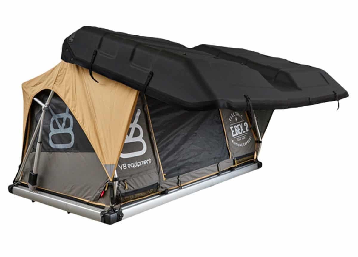 Tente de toit Ebex 2 ouverte